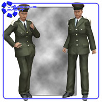 Dress Uniform (V4) (for Poser) 3D Figure Assets 3D Models VanishingPoint