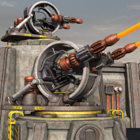 Tartaros Base Defense Turret Themed Props/Scenes/Architecture Nightshift3D