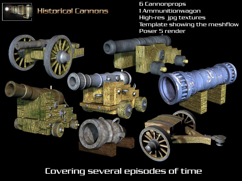 3DDjs Historical Cannons