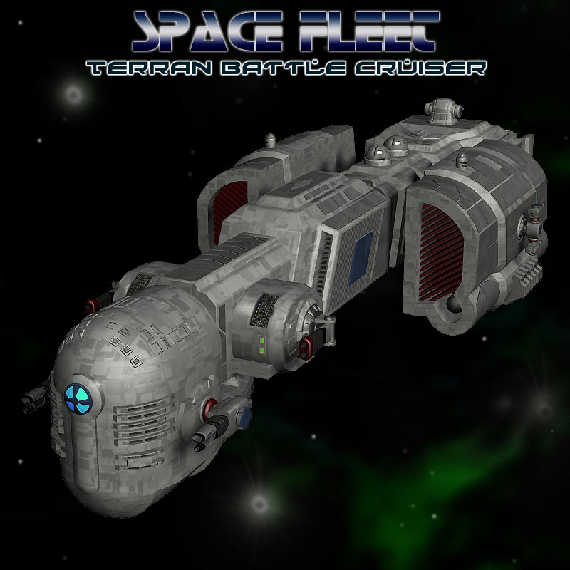 Space Ship Terran Battle Cruiser