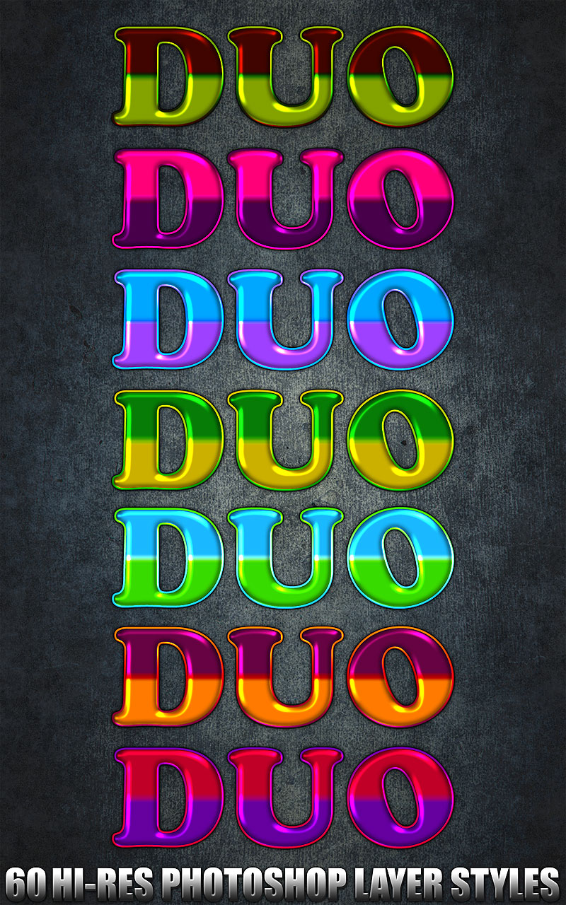 Duo - Photoshop Styles