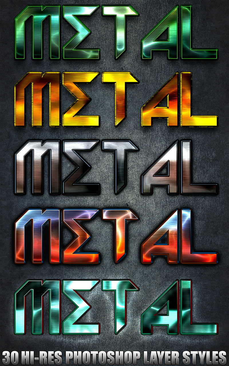 Metal - Photoshop Styles