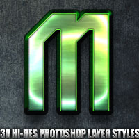 Metal - Photoshop Styles 2D 3D Models designfera