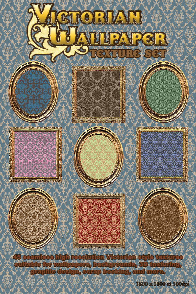 Victorian Wallpapers Texture Set
