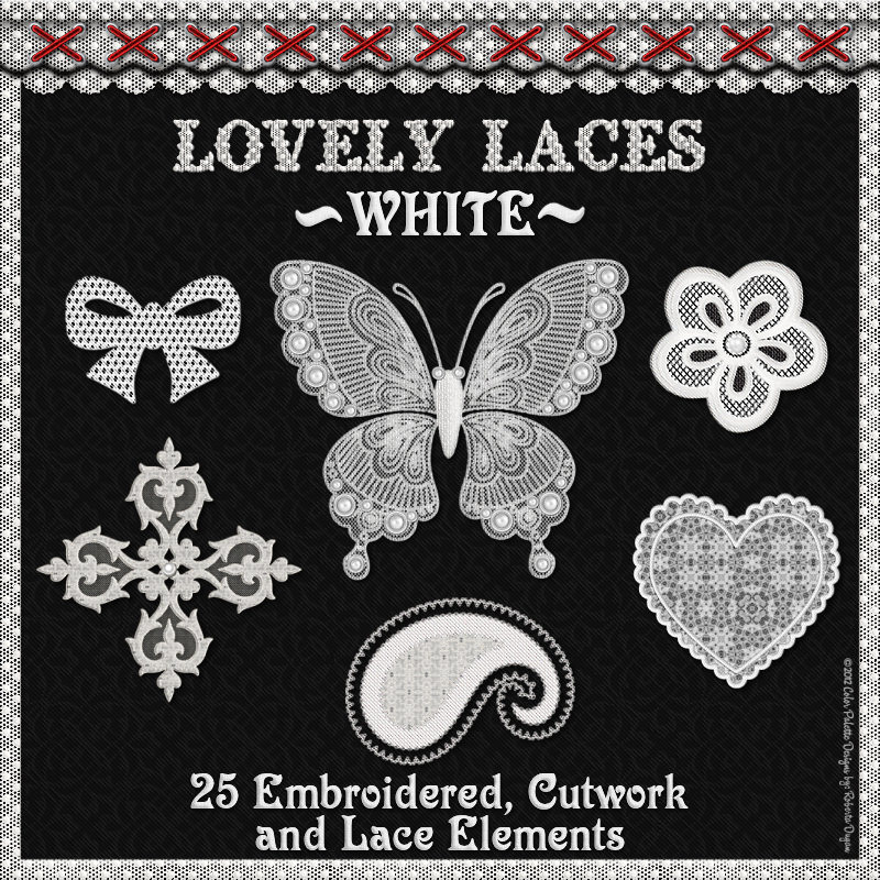 Lovely Laces: White Lace Elements