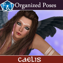 Caelis 585 Organized Poses For V4 3D Figure Assets EmmaAndJordi
