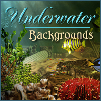 Underwater Backgrounds Themed 2D And/Or Merchant Resources -Melkor-