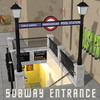 Subway Entrance Props/Scenes/Architecture Themed Transportation greenpots