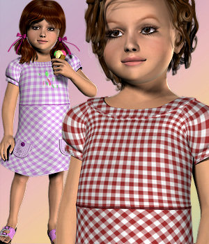 Oups Summer for Genesis Child 3D Models 3D Figure Assets Karth