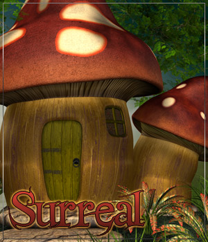 SURREAL for Mushroom Fairy House Themed Props/Scenes/Architecture Anagord