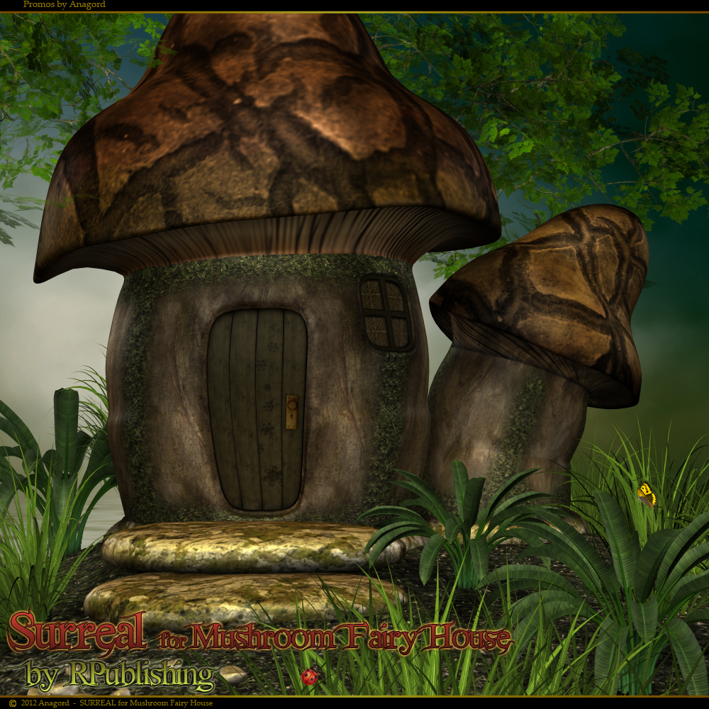 Surreal For Mushroom Fairy House 3d Models Anagord