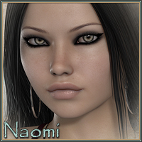 Sabby-Naomi for V4.2 3D Figure Assets 2D Graphics Sabby
