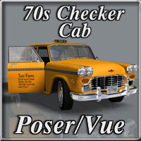 Checker Cab 3D Models Schurby