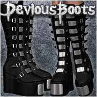 Devious Boots 3D Figure Essentials DemonicaEvilius