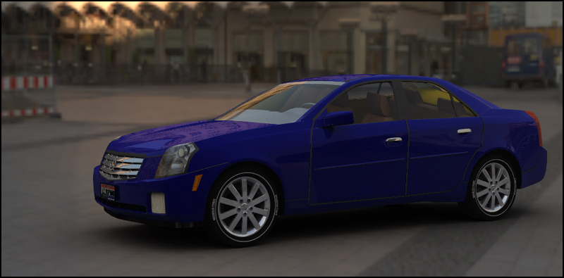 Cadillac CTS (Poser, Vue & OBJ)