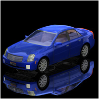 Cadillac CTS (Poser, Vue & OBJ) Software Transportation Themed RPublishing