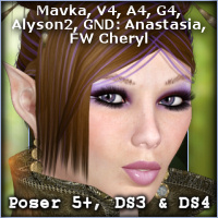 Cheryl Hair Hair Software -Wolfie-