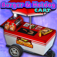 Exnem Burger & Hotdog Cart Software Props/Scenes/Architecture Themed exnem