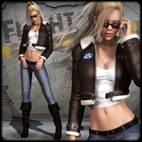 Flight Jacket 3D Figure Essentials 3D Models mytilus