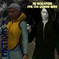 Factions 2 for the Sickle Robe Genesis 3D Figure Assets fuseling
