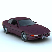 BMW 850 I (for Vue) Transportation Themed Digimation_ModelBank