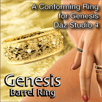 Genesis Barrel Ring 3D Figure Assets Razor42