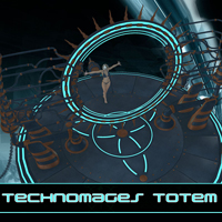 Technomages Totem Props/Scenes/Architecture Themed 1971s