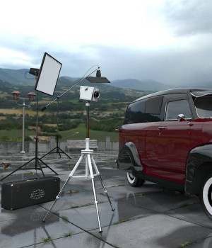 Movie Sets, Car Patio 3D Models DreamlandModels