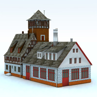 Firestation (for Vue) 3D Models Digimation_ModelBank