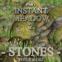 Flinks Instant Meadow 2 - Stones Props/Scenes/Architecture Themed Flink
