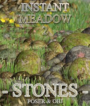 Flinks Instant Meadow 2 - Stones 3D Models Flink