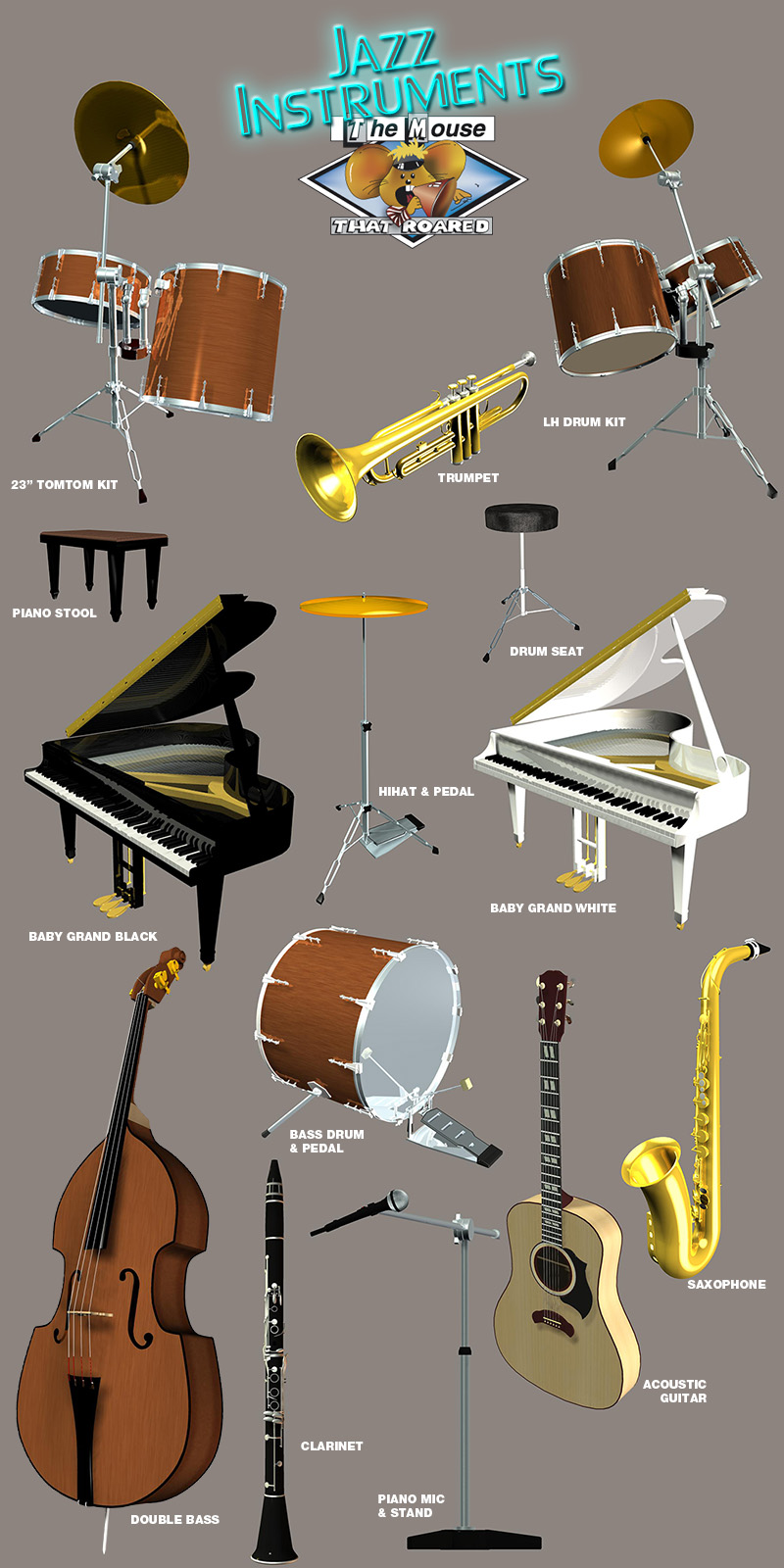 Jazz Instruments by The Mouse That Roared