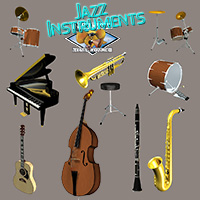 Jazz Instruments by The Mouse That Roared Props/Scenes/Architecture Themed TMTR