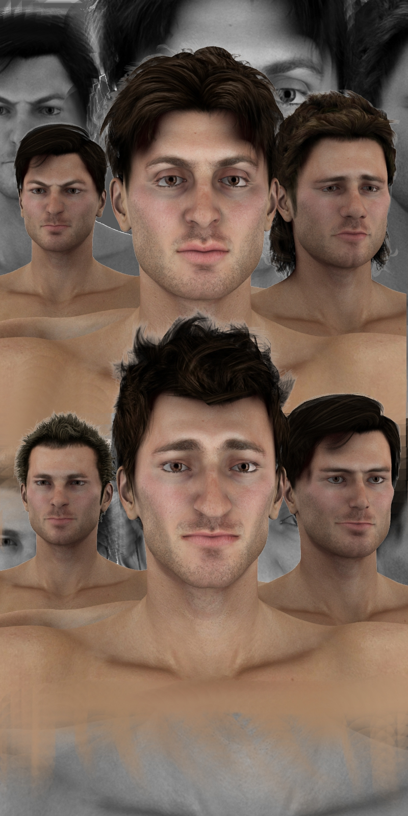 Farconville's Face Morphs++ for M4 Vol.2