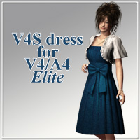 V4S dress for V4A4 3D Figure Essentials kobamax