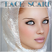 Lace Scarf 3D Figure Essentials 3D Models lilflame