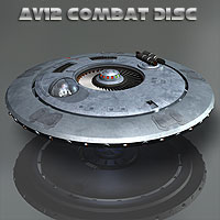 AV12 Combat Disc Transportation Themed Simon-3D