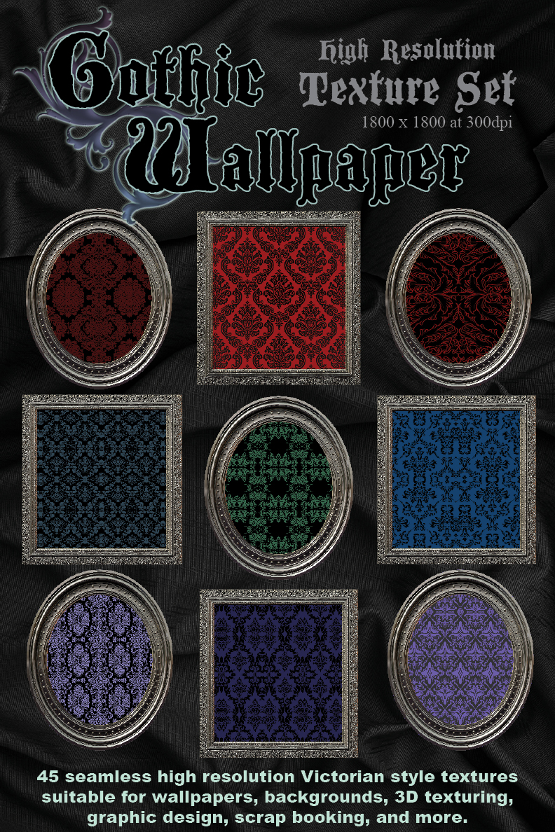 Gothic Wallpapers Texture Set