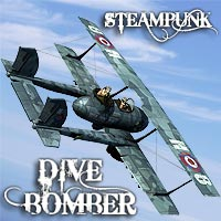 Steampunk Dive Bomber Themed Transportation coflek-gnorg