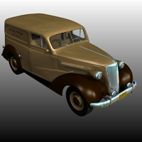Chevrolet 1937 Delivery 3D Models Nationale7