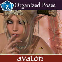Avalon 609 Organized Poses For V4 3D Figure Assets EmmaAndJordi