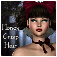 Honey Crisp Hair 3D Figure Assets Propschick