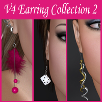 V4 Earring Collection 2 by nikisatez
