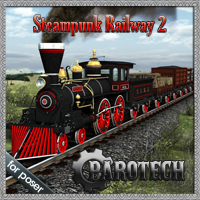 Steampunk Railway 2 3D Models 3D Figure Essentials petipet