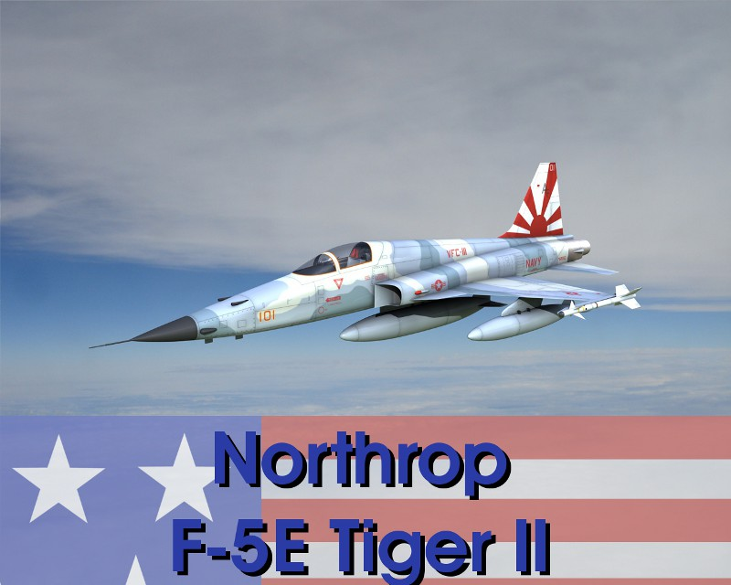 Northrop F-5E Tiger II  for 3ds and OBJ