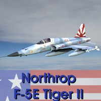 Northrop F-5E Tiger II  for 3ds and OBJ Props/Scenes/Architecture Transportation AliceFromLake