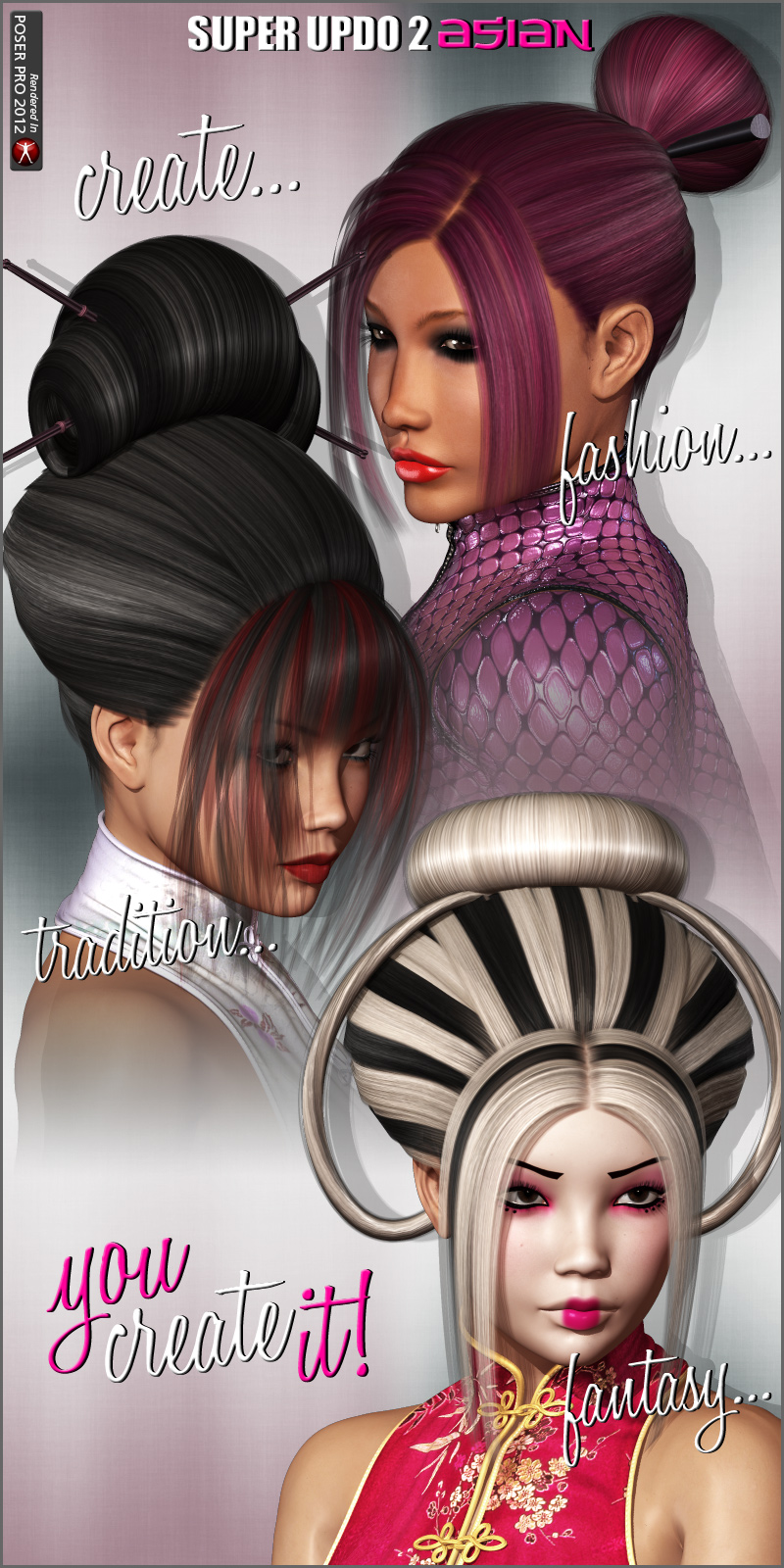 Super Updo 2 - Asian by outoftouch