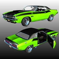 DODGE CHALLENGER T/A 1970 ( for Poser ) 3D Models Nationale7