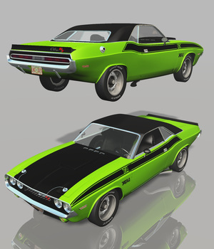 DODGE CHALLENGER T/A 1970 ( for Poser ) 3D Models 3DClassics