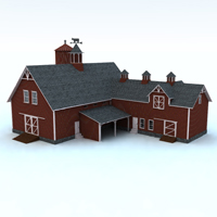 Barn (for Vue) Themed Props/Scenes/Architecture Digimation_ModelBank